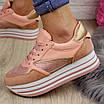 Женские пудровые кроссовки Alice 1077 (38 размер), фото 4