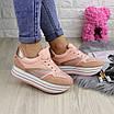 Женские пудровые кроссовки Alice 1077 (38 размер), фото 6