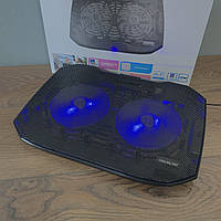 Охлаждающая подставка для ноутбука N136 с подсветкой охладитель вентилятором USB