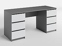 Письменный стол СП-6 с 2 тумбами Антрацит/Белый