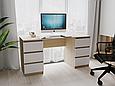Письмовий стіл СП-6 з 2-тумбами Дуб Сонома/Білий, фото 2
