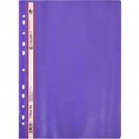 Скоросшиватель с перфорацией А4 «C» фиолетовый