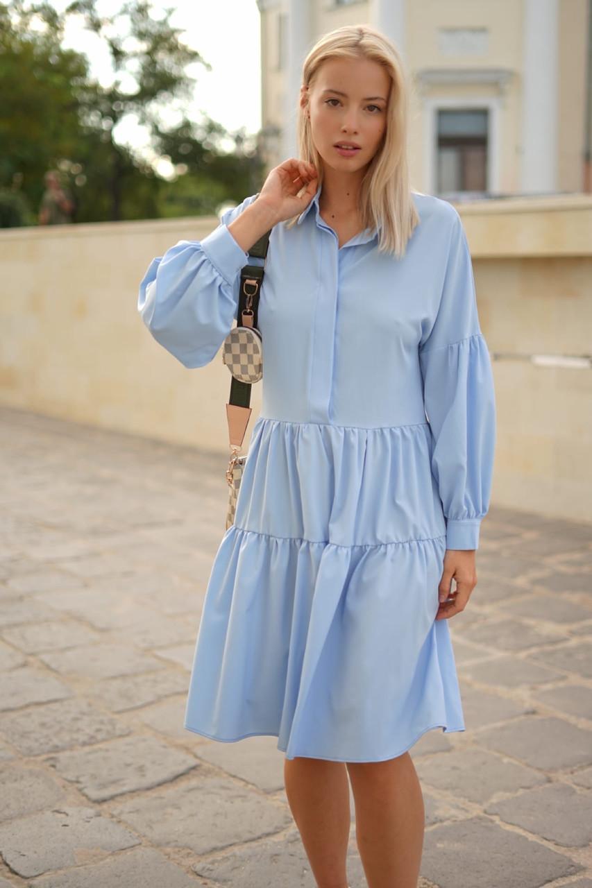 Платье-рубашка свободного кроя