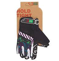 Перчатки Green Cycle NC-2331-2014 MTB Feminine без пальцев M черно-фиолетовые