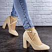 Туфли женские на каблуке бежевые Blitz 2112 (38 размер), фото 2