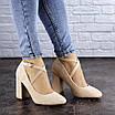 Туфли женские на каблуке бежевые Blitz 2112 (38 размер), фото 4