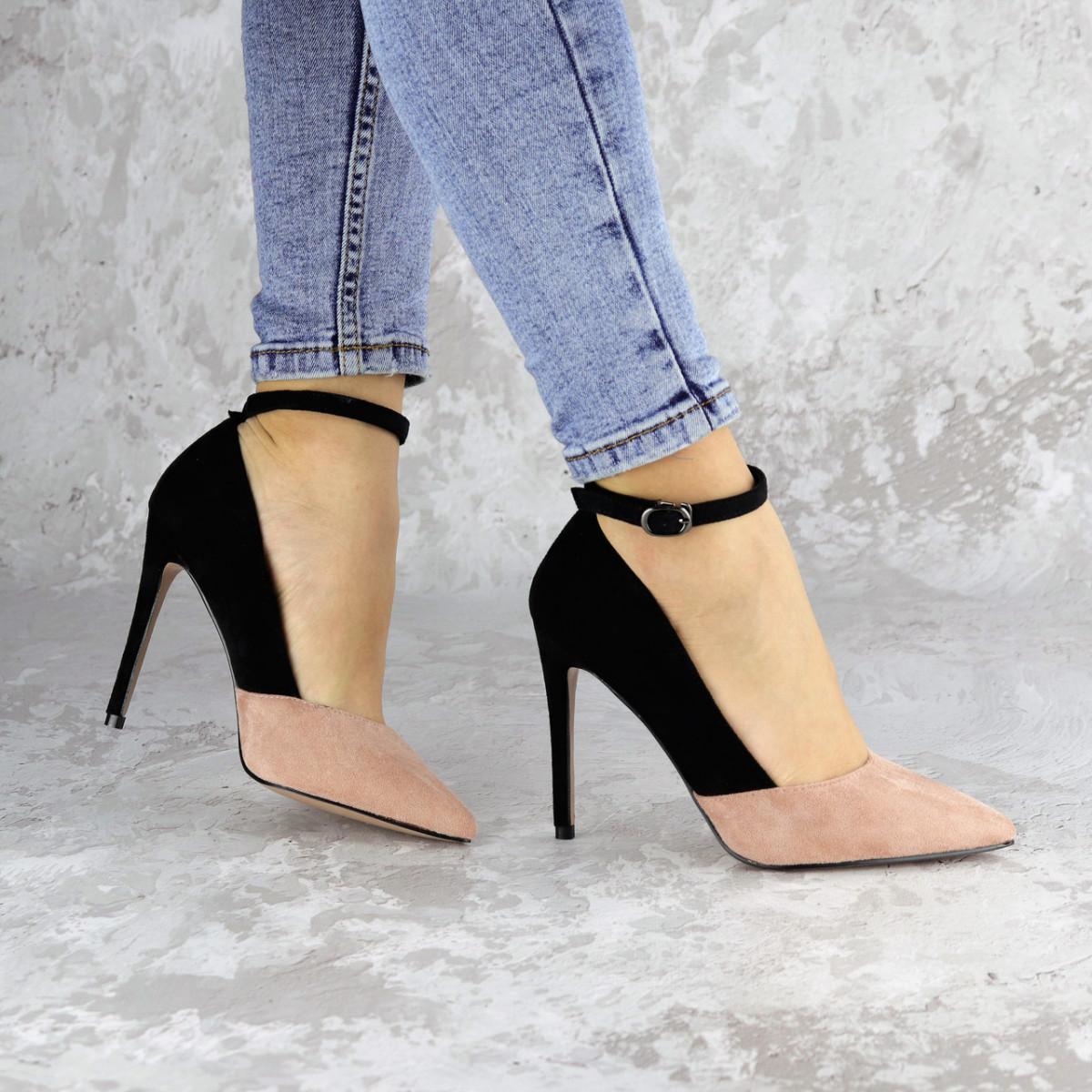 Туфли женские на каблуке розовые Beth 2186 (36 размер)
