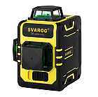 Лазерный уровень Svarog 3D с зелёными лучами, фото 2