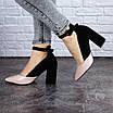 Женские туфли на каблуке розовые с черным Tex 2029 (38 размер), фото 2