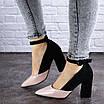 Женские туфли на каблуке розовые с черным Tex 2029 (38 размер), фото 5