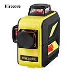 Лазерный уровень Firecore F93T XR в кейсе 3D с красными лучами, фото 2