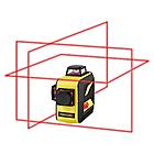 Лазерный уровень Firecore F93T XR в кейсе 3D с красными лучами, фото 5