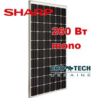 Sharp NU-RD260 BLACK монокристаллическая солнечная панель фотомодуль батарея 260 Вт