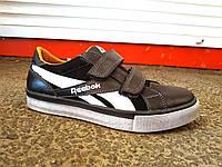 Детские кожаные кроссовки Reebok на липучках 32 - 39 р-р