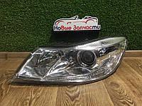Фара передняя левая Новая Skoda Octavia A5 Шкода Октавия А5 2008-2013, 1Z2941015F