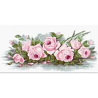 Набор для вышивания нитками Luca-S Цветы Романтические розы