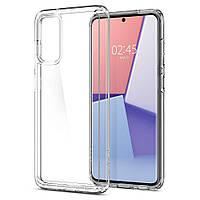 Чехол для Samsung Galaxy S20 силиконовый прозрачный (с заглушками)
