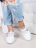 Женские Кроссовки кожа белое серебро Лола 6917-28, фото 2
