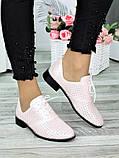 Туфли кожаные пудра (лето) Эвелин 7007-28, фото 2