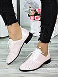 Туфли кожаные пудра (лето) Эвелин 7007-28, фото 3