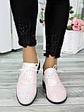 Туфли кожаные пудра (лето) Эвелин 7007-28, фото 4