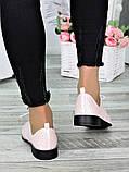 Туфли кожаные пудра (лето) Эвелин 7007-28, фото 5