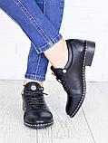 Туфли черные кожаные 7145-28, фото 4