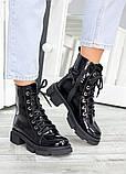 Ботинки берцы женские лак-кожа 7458-28, фото 4