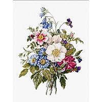 Набор для вышивания нитками Luca-S Цветы Букет летних цветов