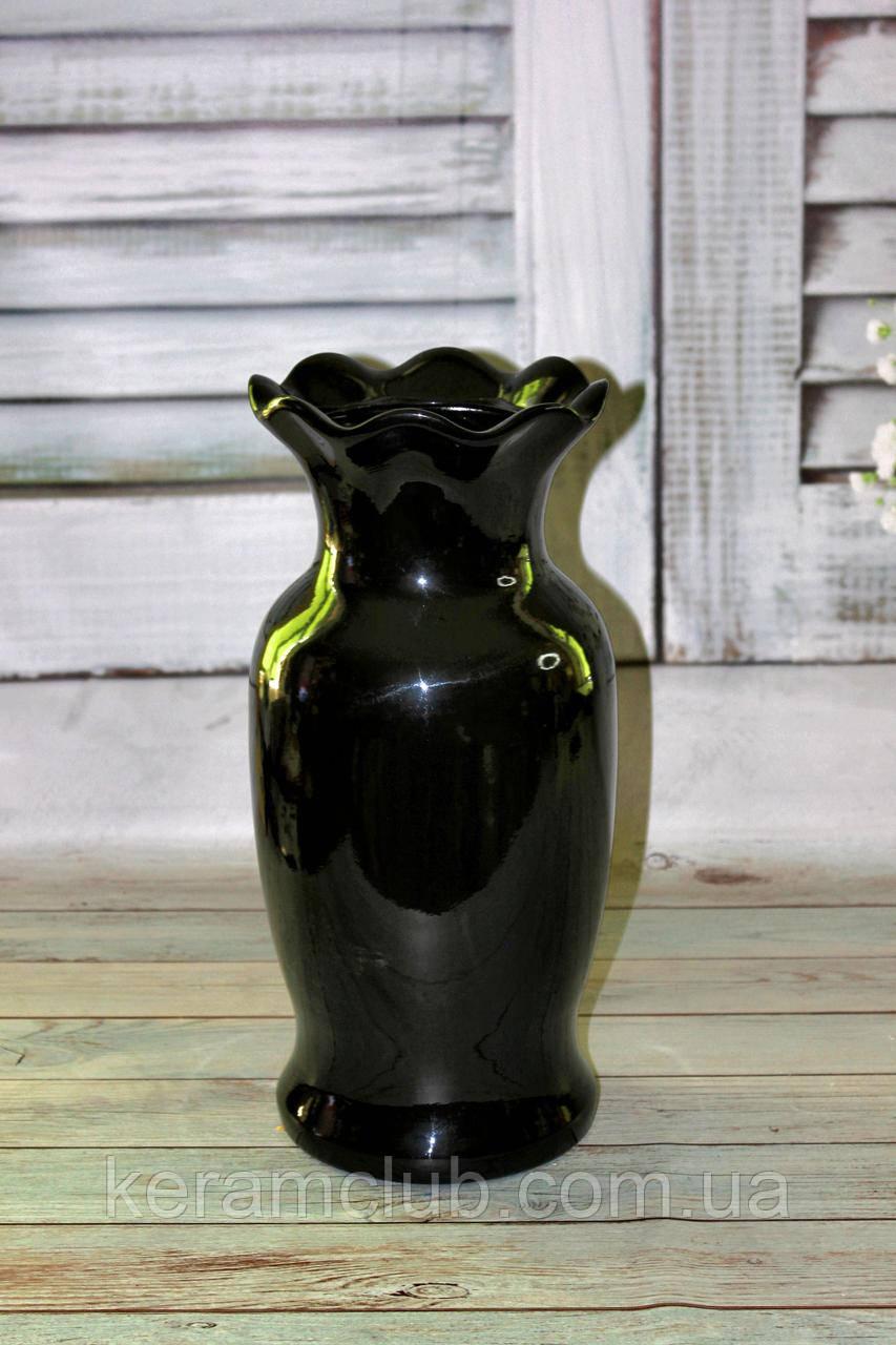 Напольная ваза черная Лепесток h 45см