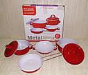 Набор игрушечной металлической посуды 6 предметов 620-B5, фото 2