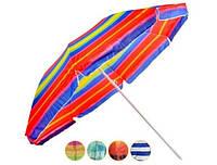 Пляжный зонт 2 метра с конструкцией ромашки с наклоном с напылением