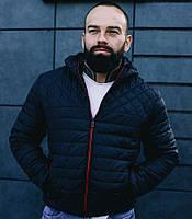 Куртка мужская с капюшоном осенняя весенняя черная Турция. Живое фото (Чоловічі куртки)