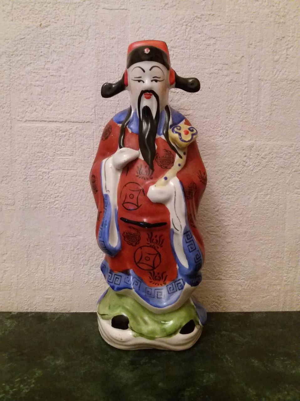 Бог карьеры Лу-син, фарфор Китай 1950-е годы