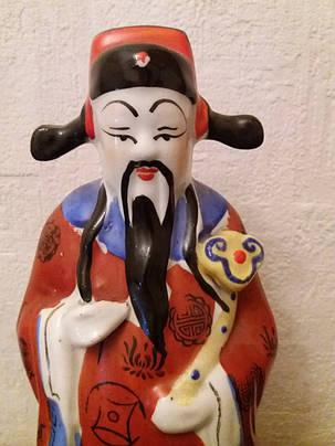 Бог карьеры Лу-син, фарфор Китай 1950-е годы, фото 2