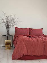 Комплект постільної білизни 200x220 LIMASSO MOZAIK WINE червоний
