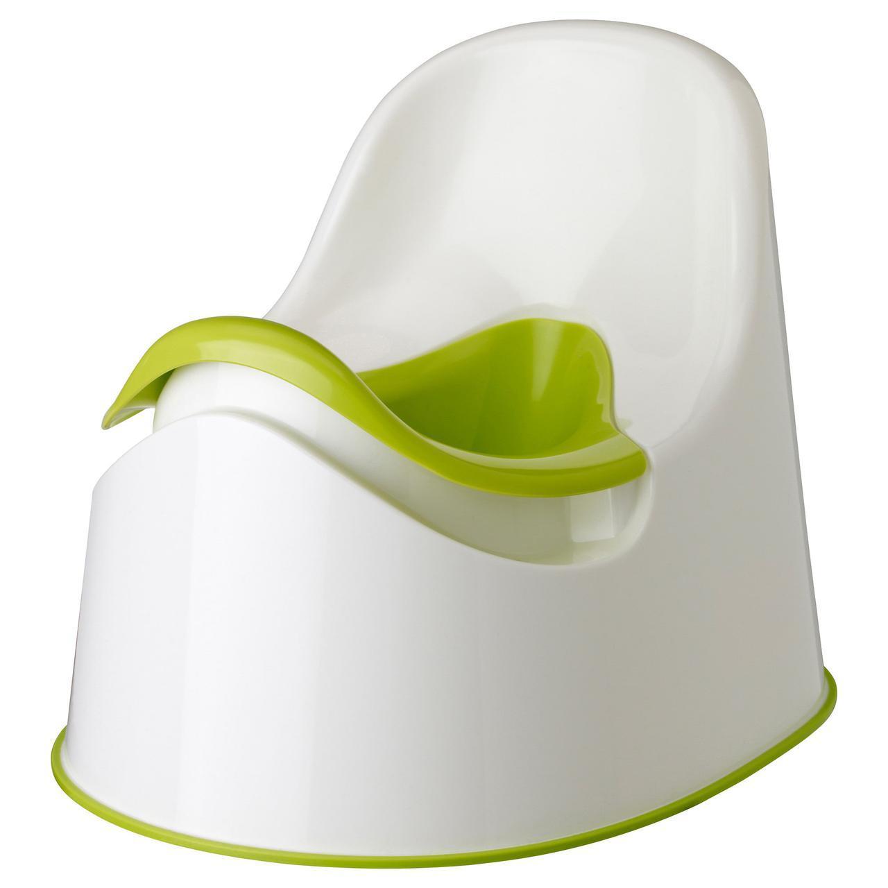 IKEA LOCKIG (601.931.28) Горшок, зеленый, белый, зеленый