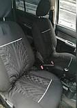 Накидки на сиденья авто чехлы универсальные Автонакидки на сидіння в салон машини авто-майки, фото 4