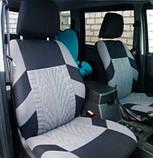 Накидки на сиденья авто чехлы универсальные Автонакидки на сидіння в салон машини авто-майки, фото 3