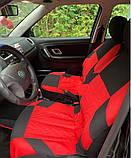 Накидки на сиденья авто чехлы универсальные Автонакидки на сидіння в салон машини авто-майки, фото 7