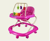 Ходунки детские BW0117 С подвесками розовый HN