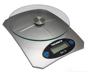 Веса кухонные электронные Technics с батарейками 5 кг (70-697)
