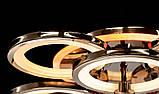 Светодиодная люстра с диммером и LED подсветкой, цвет чёрный хром, 150W, фото 6