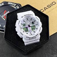 Качественные Наручные белые часы унисекс, мужские Casio! На подарок! Есть разные цвета.