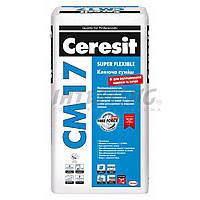 Клей для плитки Ceresit СМ-17 (25кг) Клеюча Еластична Суміш