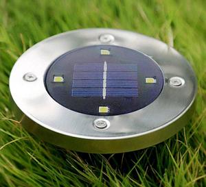 Уличный светильник 1шт  Arivans Solar Disk Lights 5050 на солнечной батарее