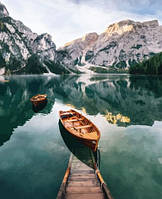 Картина для рисования по номерам, горное озеро 40х50 см.