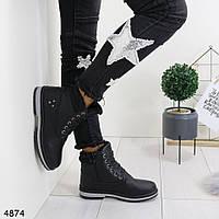 Женские зимнее ботинки черного цвета 36, 39