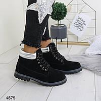 Женские зимние ботинки черного цвета 3 7р