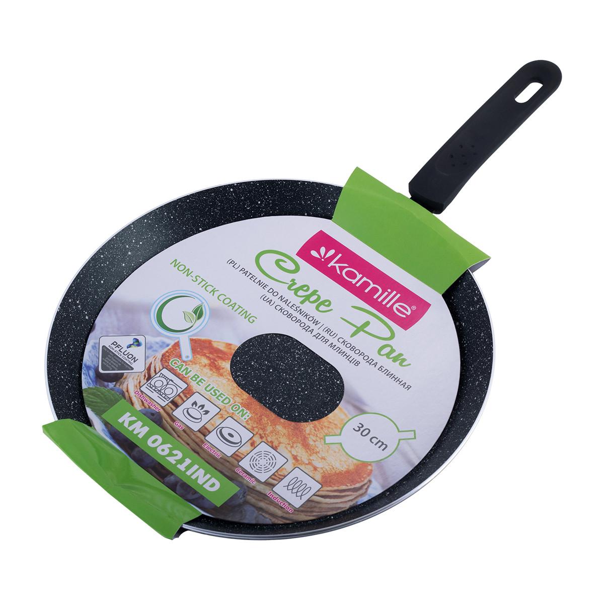 Сковорода блинная Kamille 30см с антипригарным покрытием (индукция) KM-0621IND